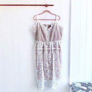 NWT City Chic White Lace Midi Dress